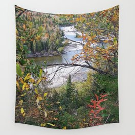 Winding River in Autumn Wall Tapestry