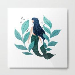 Mermaid Garden Metal Print