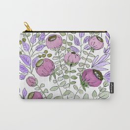Watercolor. Lilac fairy bells . Carry-All Pouch