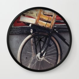Bicycle, Wood Crate Wall Clock