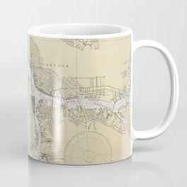 Vintage Norfolk Harbor & Elizabeth River Map (1933) Coffee Mug