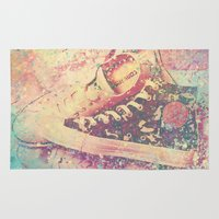 converse Area & Throw Rugs featuring Converse by Nechifor Ionut
