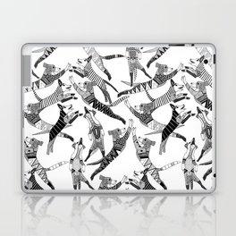 dog party black white Laptop & iPad Skin