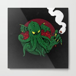 Cthulhu Cigars: Taste the Madness Metal Print