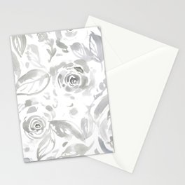 Lillian Gray Floral Stationery Cards