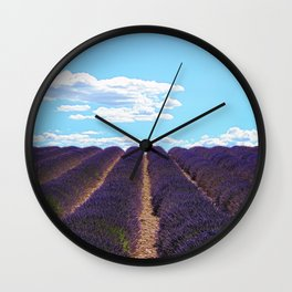 PROVENCE - Lavender | France | Travel | Summer | Purple | Nature | Landscape Wall Clock