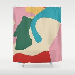 Mashed Fruitcake - geometric, drawing, bedroom, retro, trendy, cottage, vintage, interior, interior, Shower Curtain
