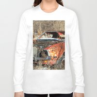 mustang Long Sleeve T-shirts featuring Red Mustang by RangerTman