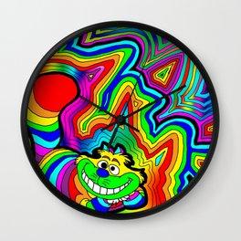 Trippy Chesire Wall Clock