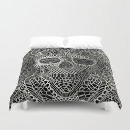 Lace Skull Duvet Cover
