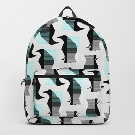 Glitching Crow Pattern Backpack