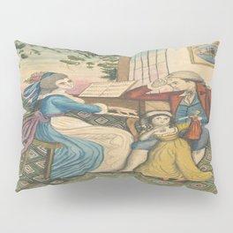 Classical Musical Family Illustration Pillow Sham