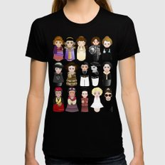 Kokeshis Women in the History Womens Fitted Tee Black LARGE
