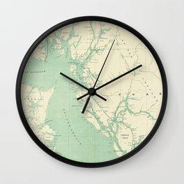 Vintage Map of British Columbia (1893) Wall Clock