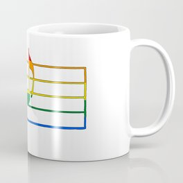 Rainbow Flag Musical Note 'A Coffee Mug