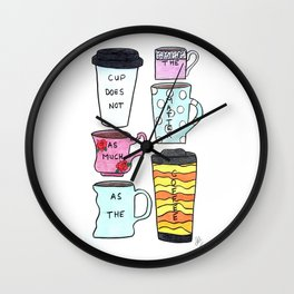 Only the coffee matters! Wall Clock