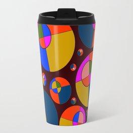 Bubble pink & blue 07 Travel Mug