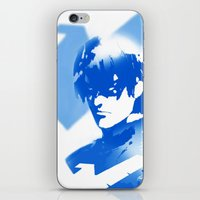 nightwing iPhone & iPod Skins featuring Nightwing Gradient #01 by markclarkii