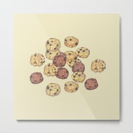 cookies_pattern_light yellow Metal Print