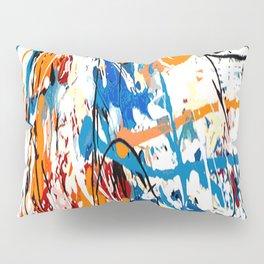 Blue orange #1 Pillow Sham