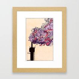 Smokestack - Colour Framed Art Print