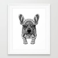 frenchie Framed Art Prints featuring Frenchie by BIOWORKZ