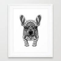 bioworkz Framed Art Prints featuring Frenchie by BIOWORKZ