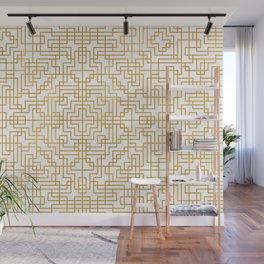 Geometric Symmetry Gold 2 Wall Mural