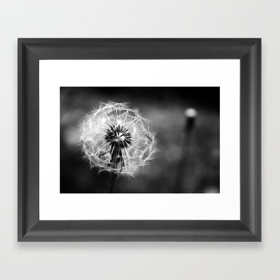 Wispy Framed Art Print