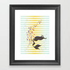 Black Mermaid 2 Framed Art Print