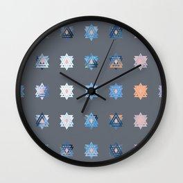 Triniti Snow Crystal Grey Wall Clock