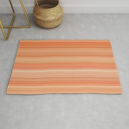 soft orange colors horizontal lines Rug
