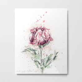 MInimalist abstract flower Metal Print