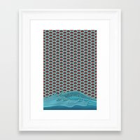 koi Framed Art Prints featuring Koi by Quick Brown Fox