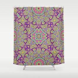 Acid Symmetry Shower Curtain