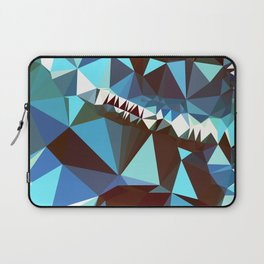 bluebrown abstract Laptop Sleeve