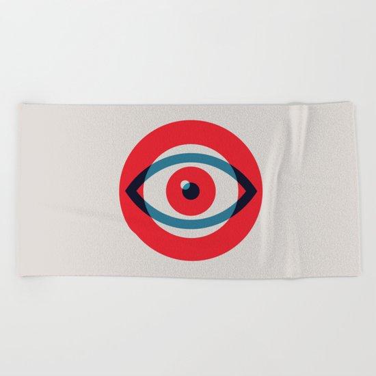 Beach Blanket Logo: Eye Logo Beach Towel By Original Art