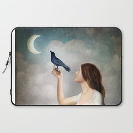The Moon Asked The Crow Laptop Sleeve
