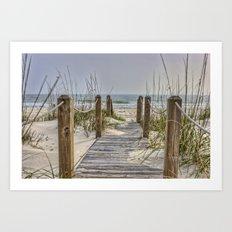 Walkway to Beach Art Print