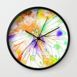 Carnival Butterfly Wall Clock