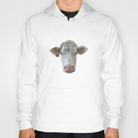 cow Hoodies featuring COW by Laura Maria Designs