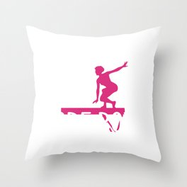 Gymnast If it Was Easy More Boys Would Do It Gymnastics Throw Pillow