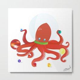 Space Octopus Metal Print
