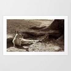 me and my thoughts... (sepia dream) Art Print