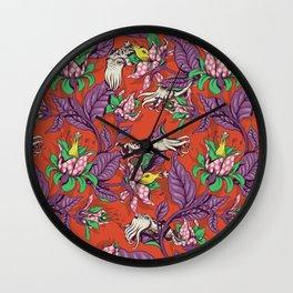 The Sea Garden Wall Clock