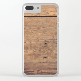 Wooden pattern Clear iPhone Case