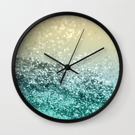 Lemon Twist Beach Glitter #2 #shiny #decor #art #society6 Wall Clock