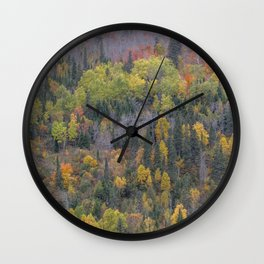 Detail of Peak Fall Colors in Northern Minnesota Wall Clock