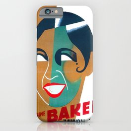 Josephine Baker Vintage Poster for Stockholm iPhone Case