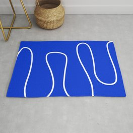 Blue Abstract Wave Rug